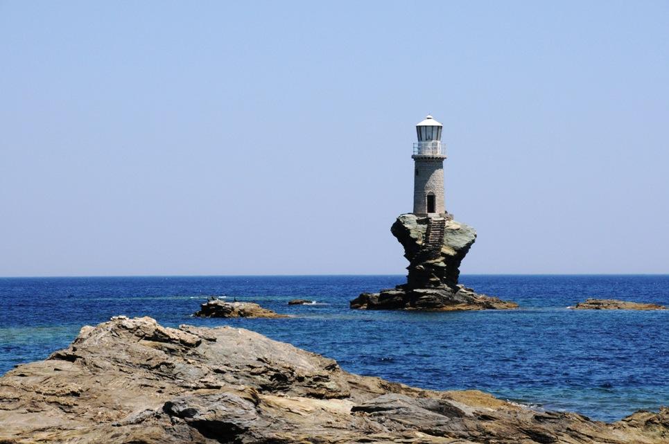 Tourlitis lighthouse, Andros island