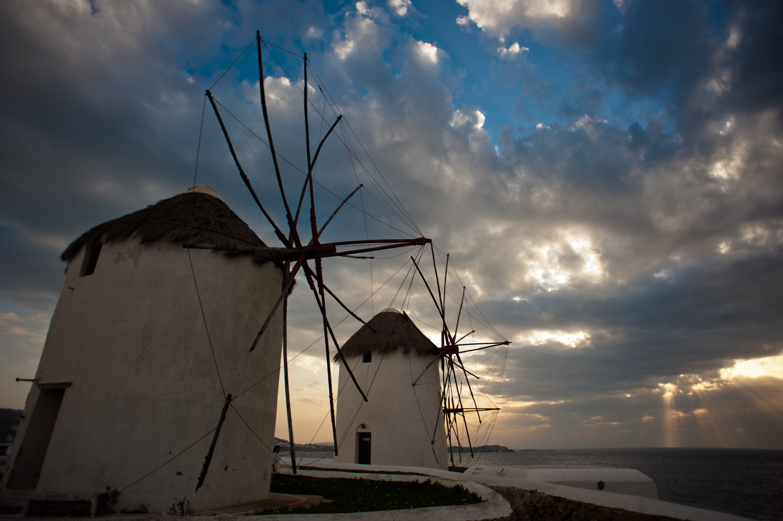Windmills_of_the_Mykonos Island,Chora, Cyclades,Agean Sea,Greece