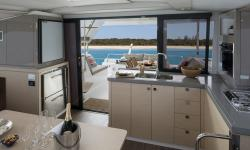 Lucia 40 catamaran galley